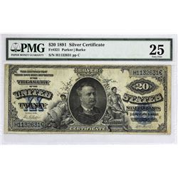 Fr. 321. 1891 $20 Silver Certificate. PMG Very Fine 25.