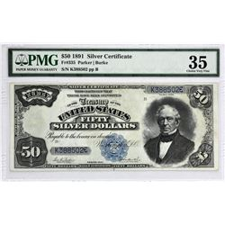 Fr. 335. 1891 $50 Silver Certificate. PMG Choice Very Fine 35.