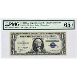 "Fr. 1610.  1935A $1 Experimental ""S"" Silver Certificate.  PMG Gem Uncirculated 65 EPQ."
