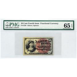 Lot of (5) PMG Graded Fractional Currency.