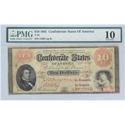 Six (6) PMG Certified Confederate Notes.