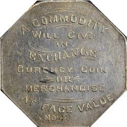Colorado. Victor. 1900 Jos. Lesher's Referendum Souvenir Medal or Dollar. Zerbe-1, HK-787. Rarity-6.