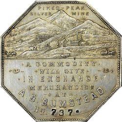 Colorado. Victor. 1900 A.B. Bumstead. Jos. Lesher's Referendum Souvenir Medal or Dollar. Zerbe-3, HK
