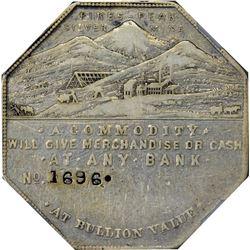 Colorado. Victor. 1900 Bank Type. Jos. Lesher's Referendum Souvenir Medal or Dollar. Zerbe-4, HK-790