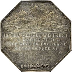 Colorado. Victor. 1901 Imprint Type. Jos. Lesher's Referendum Silver Souvenir Medal or Dollar. Zerbe