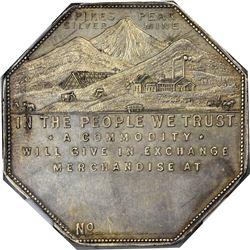 Colorado. Victor. 1901 Imprint Type. Jos. Lesher's Referendum Silver Souvenir Medal or Dollar. Zerbe