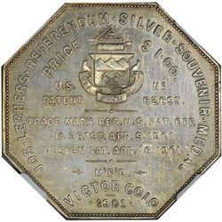 Colorado. Denver. 1901 Imprint Type. Boyd Park. Jos. Lesher's Referendum Silver Souvenir Medal or Do