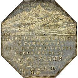 Colorado. Salida. 1901 Imprint Type. W.C. Alexander, Jeweler. Jos. Lesher's Referendum Silver Souven