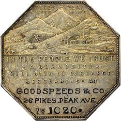 Colorado. Victor. 1901 Imprint Type. Goodspeeds & Co. Jos. Lesher's Referendum Silver Souvenir Medal