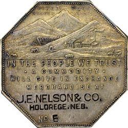 Nebraska. Holdrege. 1901 Imprint Type. J.E. Nelson & Co. Jos. Lesher's Referendum Silver Souvenir Me