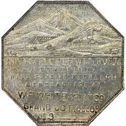 Colorado. Grand Junction. 1901 Imprint Type. W.F. White Merc. Co. Jos. Lesher's Referendum Silver So