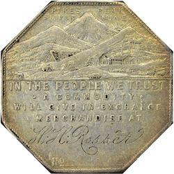 Colorado. Victor. 1901 Engraved Type. H. H. Rosser. Jos. Lesher's Referendum Silver Souvenir Medal o