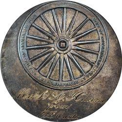 Bryan Money. 1896 Gorham Mfg. Co. Dollar. Schornstein-6, HK-780. MS-63 NGC.