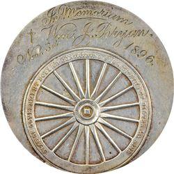 Bryan Money. 1896 Gorham Mfg. Co. Dollar. Schornstein-6, HK-780. MS-62 NGC.