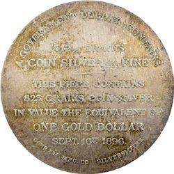NGC-Certified 1896 Bryan Dollar-Gorham Mfg. Co. Threesome: *