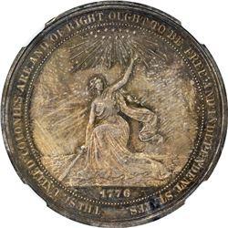 So-Called Dollar. 1876 HK-20. U.S. Centennial Exposition. Silver. Plain Edge. MS-63 NGC.