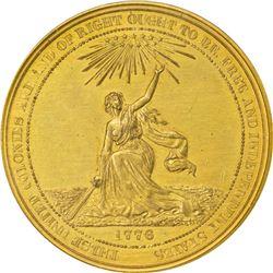 So-Called Dollar. 1876 HK-22. U.S. Centennial Exposition. Gilt Bronze. Plain Edge. MS-62 PCGS.