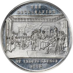 So-Called Dollar. 1876 HK-74. U.S. Centennial Exposition, Declaration of Independence. White Metal.