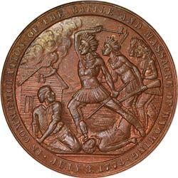 So-Called Dollar. 1878 HK-120. Wyoming Battle and Massacre. Copper. Plain Edge. MS-65 BN NGC.