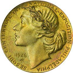 So-Called Dollar. 1926 Adam Pietz U.S. Sesquicentennial. HK-457a. Brass. Plain Edge. MS-64 PCGS.