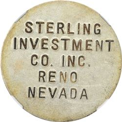 So-Called Dollar. 1933 Sterling Investment Co. Reno, Nevada. HK-821. Silver. Plain Edge. MS-62 NGC.