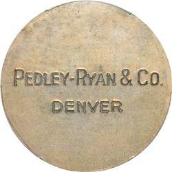 So-Called Dollar. Pedley-Ryan & Co. Type I. HK-822. Silver. Plain Edge. MS-63 PCGS.