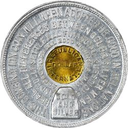 So-Called Dollar. Undated (1897) Dana Bickford Internat'l Dollar. HK-835. Aluminum-Brass. Plain Edge