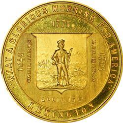 So-Called Dollar. 1875 Five-Piece Set Centennial Celebration of the Battle of Lexington-Concord Meda