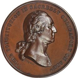 1861-Dated George Washington. Oath of Allegiance. Julian-CM-2. Bronze. Plain Edge. MS-67 BN.