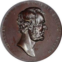 1871 Abraham Lincoln. Emancipation Proclamation. Julian-CM-16. Bronze. Plain Edge. Specimen-65 PCGS.