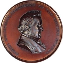 Undated – Post 1861. James Buchanan, Japanese Embassy. Julian-CM-23. Bronze. MS-67 BN NGC.
