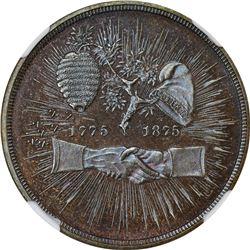 1875-Dated Mecklenburg Centennial. Julian-CM-28. Bronze. Plain Edge. MS-66 BN.