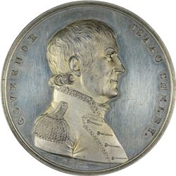 Circa 1822 Governor Isaac Shelby. Battle of the Thames Medal. Julian-MI-21. White Metal. Specimen-62