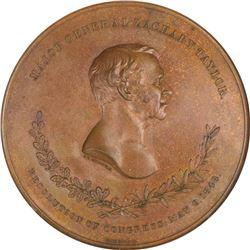 Circa 1849 Major General Zachary Taylor – Buena Vista Medal. Julian-MI-24. Bronze. MS-63 BN NGC.