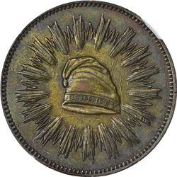 1836-Dated First Steam Coinage. Julian-MT-21. Mar. 23. Bronze. Plain Edge. AU-55 BN NGC.