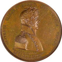 1813-Dated Master Commandant Oliver Hazard Perry Medal. Lake Erie, 10 September, 1813. Julian-NA-19.