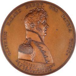1813-Dated (Post-1880 Restrike) Master Commandant Oliver Hazard Perry Medal. Lake Erie, 10 September