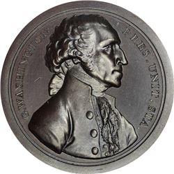 Undated (circa 1859) George Washington Sansom Medal. Presidency Relinquished. Restrike. Baker-72A, J