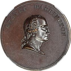 Undated Washington. Time Increases His Fame. Julian-PR-27. Bronze. Plain Edge. MS-65 BN NGC.