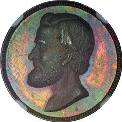 Undated (1866-1868) Ulysses S. Grant. Julian-PR-42. Silver. Plain Edge. MS-64 NGC.