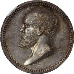 Undated (1881-1882) James A. Garfield. Julian-PR-43. Silver. Plain Edge. MS-63 NGC.