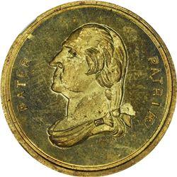 Undated (circa 1876) Pater PatriÆ – McPherson. GW-341. Brass. Plain Edge. MS-65 PL NGC.