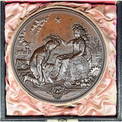 California. 1877 San Francisco Industrial Exhibition Medal. Bronze. Essentially as Struck.