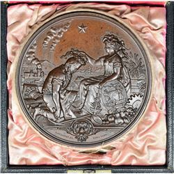 California. 1877 San Francisco Industrial Exhibition Medal. Bronze. Essentially as Struck.