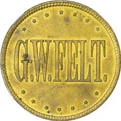 Iowa. Sioux City. Undated George W. Felt Post Trader. Brass. MS-63 NGC.