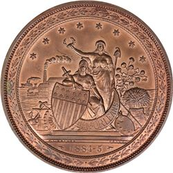 Louisiana. New Orleans. 1884-1885 World's Industrial and Cotton Centennial Exposition. Bronze. Essen