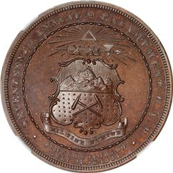1883 Grand Army of the Republic. 17th Annual Encampment. DENVER, CO. Bronze. MS67 BN NGC.