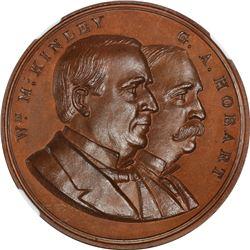 1897 McKinley-Hobart Inauguration. Bronze. Plain Edge. MS-67 BN NGC.