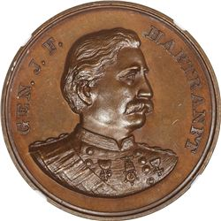 Pennsylvania. Harrisburg. 1899-Dated General J.F. Hartranft Monument Revealed. Bronze. Plain Edge. M