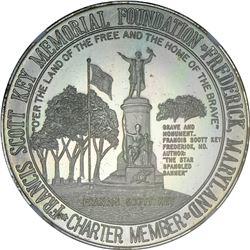 1964-1965 New York World's Fair. Francis Scott Key Spangled Banner. Silver, .925 Fine MS-68 DPL NGC.